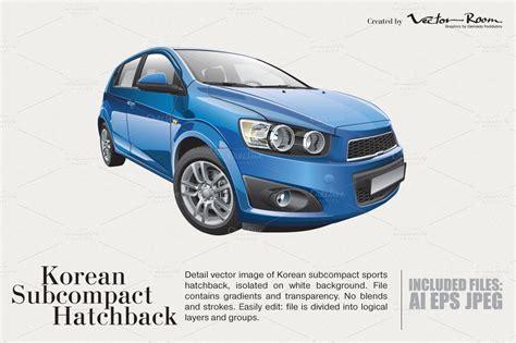 Korean Subcompact Hatchback  Graphics On Creative Market