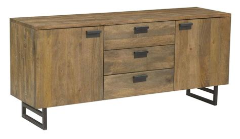 Metal Sideboard Cabinet by Quot Indi Quot Solid Hardwood Timber Modern Industrial Metal