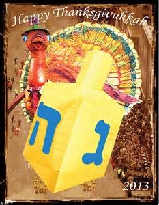 happy thanksgivukkah thanksgiving and hanukkah fall on the same day this year which won t