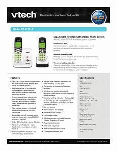 Vtech Dect 6 0 Telephone Manual