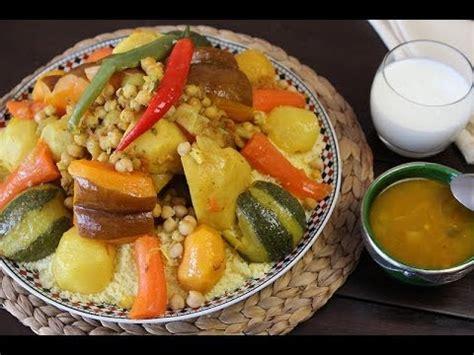 cuisine marocaine recette de couscous aux légumes couscous with vegetables