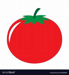 Red tomato icon Royalty Free Vector Image - VectorStock