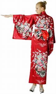 Elegant Red Kimono - Kimono & Yukata Robes - aFashion
