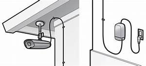 Drilling Holes For Exterior Security Camera Ac Plug