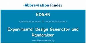 EDGAR definisjon: Eksperimentell Design Generator og ...