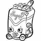 Butter Peanut Drawing Coloring Pages Shopkins Printable Getdrawings sketch template
