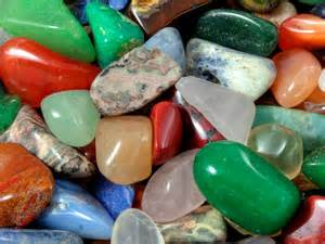 natural stones   colors red green blue