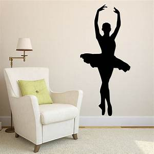 Elegant ballerina themed wall stickers modern ballet art for Best brand of paint for kitchen cabinets with stair wall art stickers