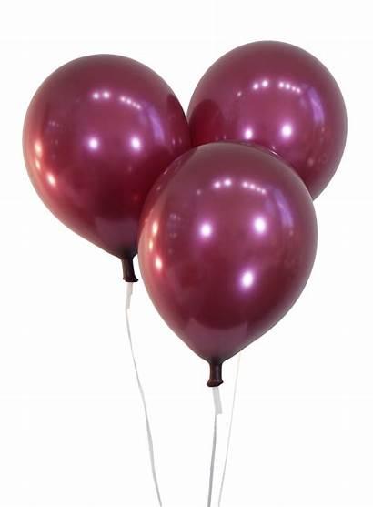 Balloons Metallic Burgundy Latex Celebrity