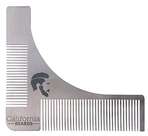 beard shaping template premium beard shaping template styling tool and comb heavy stainless steel by california