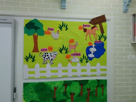 farm animals classroom display board activities
