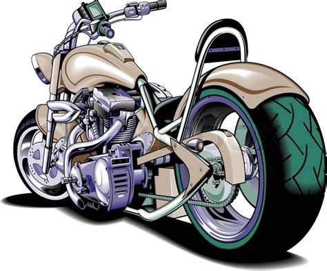 Harley Davidson Cartoons And Comics Funny Pictures From Cartoonstock Vector Cartoon Motorbike Stock Vector Colourbox