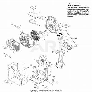 Poulan Bp400 Gas Blower Parts Diagram For Blower Assembly