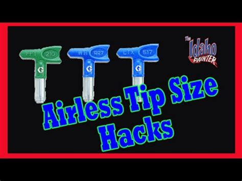 recommended airless painter sprayer tips airless paint sprayer tutorials youtube