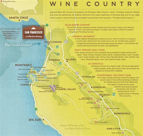 Monterey County Wine Maps - California Winery Advisor