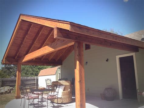 exposed beam cedar roof porch beams and
