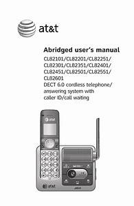 At U0026t Cl82201 User S Manual
