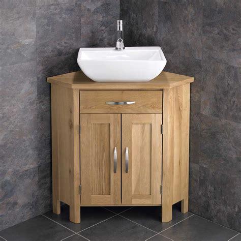 Corner Freestanding Cabinet Bathroom Vanity Unit 78cm Wide