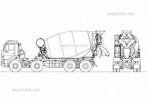 Kamaz Concrete Mixer Autocad Blocks  Cad Models Free Download