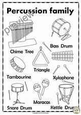 Percussion Instruments Coloring Drum Pages Puzzles Snare Line Music Names Bass Cymbals Triangle Musical Visit Xylophone Wind Tambourine Gong Woodblock sketch template