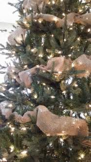 christmas tree using burlap garland make pinterest