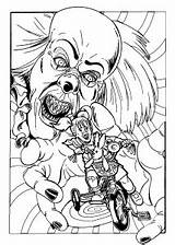 Coloring Pennywise Pages Clown Scary Horror Halloween Printable Adult Adults Evil Print Drawing Getcolorings Movie Sheets Clowns Inspirational Fun Getdrawings sketch template
