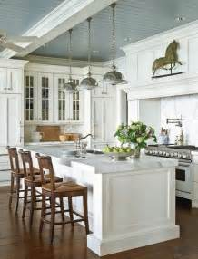 Hampton Bay Shaker Wall Cabinets by Beadboard Ceiling Country Kitchen Traditional Home