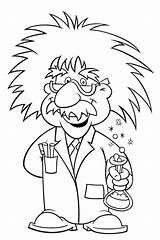 Einstein Albert Coloring Science Pages Mad Glasses Scientists Kid Week Stem Clipart Wore Cartoon Sheets Bestcoloringpagesforkids Activities Preschool Printable Lesson sketch template