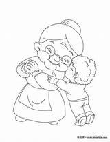 Coloring Grandma Pages Grandparents Hugging Boy Drawing Sheets Clipart Printable Activities Bear Hug Dibujos Para Colorear Dibujo Grandmother Getcolorings Math sketch template
