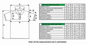 Polo Shirt Size Chart  U2013 Custom Embroidered Polo Shirts