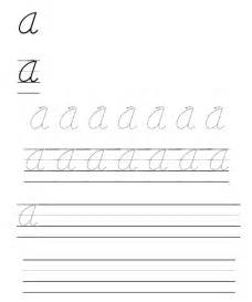 Printable Cursive Handwriting Practice Worksheets
