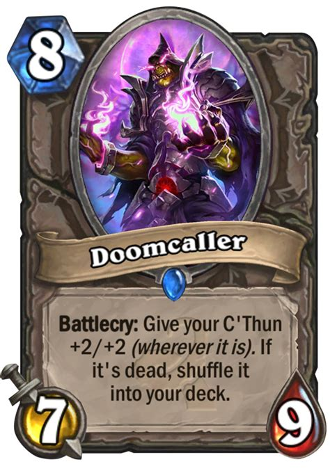 Top Tier Decks Hearthstone by Doomcaller Hearthstone Card