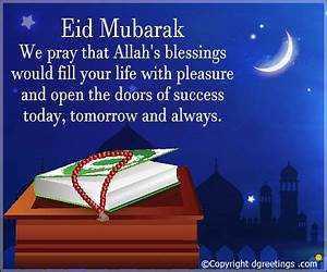 Eid Mubarak Messages, Eid Mubarak SMS & Eid Mubarak Wishes ...