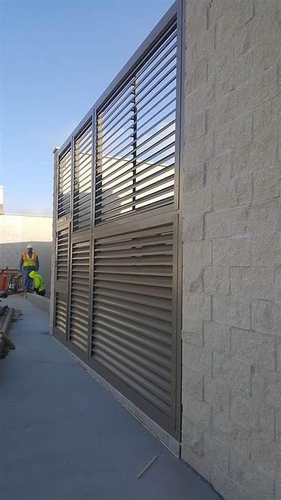 Louvered Panels Divide Protect Panel Wall