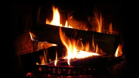 beautiful fireplace  perfect crackling fire sounds