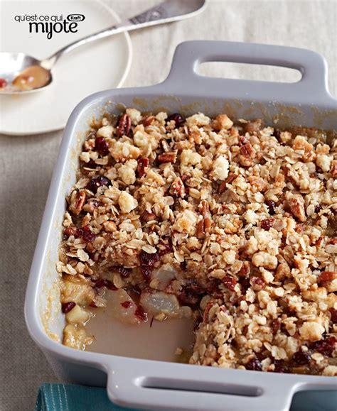 dessert rapide aux poires croustillant rapide aux poires et aux canneberges recette divins desserts