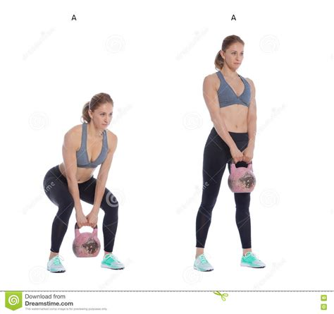 kettlebell deadlift glutes preview functional performing athletic exercise woman