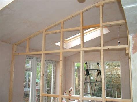 cloison en bois interieur construire une cloison 224 ossature bois l atelier bois