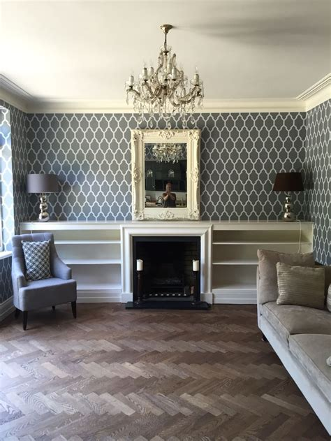 newly decorated lounge  farrow  ball tessella