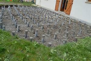 deuxieme etape plots betons With faire des plots en beton pour terrasse