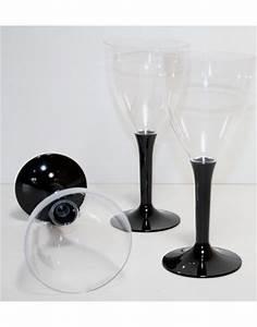 Verre A Vin Noir : verre eau ou verre vin de couleur noire ~ Teatrodelosmanantiales.com Idées de Décoration