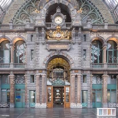 Station Central Antwerpen Belgien Inneren Historischen Antwerp