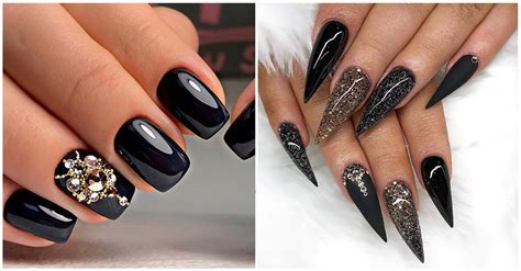 50 Beautiful Black and Gold Nail Designs That Will Make ...