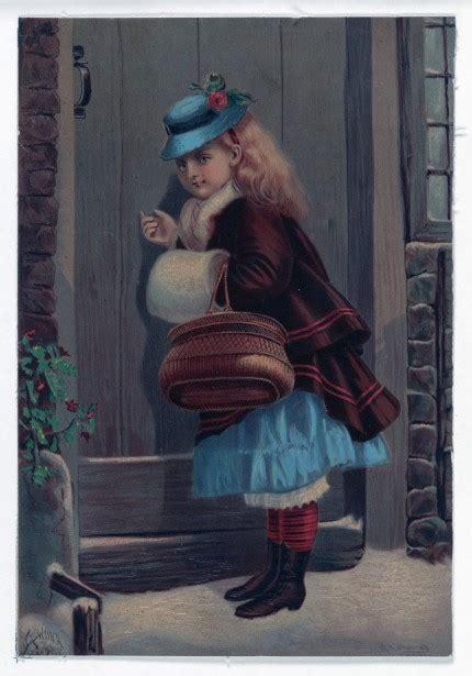 girl knocking door painting  stock photo public