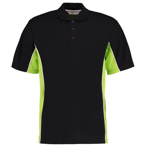 shirt green light kk475 39 s track polo shirt kustom kit