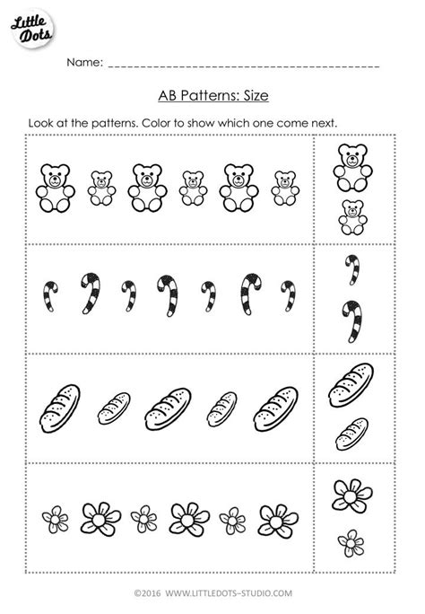 free ab pattern worksheet for pre k color the pictures