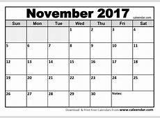November 2017 Printable Calendar 2018 calendar with holidays