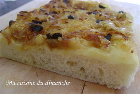 ma cuisine italienne focaccia della nonna aux oignons olives noires