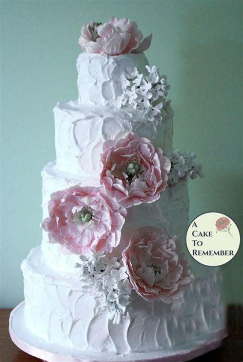 gumpaste peonies  lilacs  wedding cake sugar