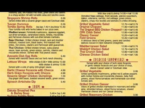 california kitchen menu california pizza kitchen menu california pizza kitchen